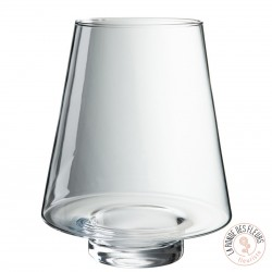 Vase transparent concave