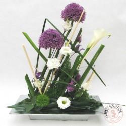 composition florale graphique pour Pâques