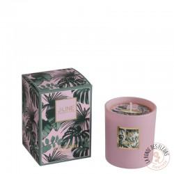 Bougie parfumée tropical rose