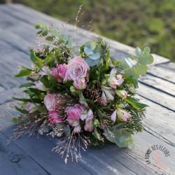 panier angélique de fleurs blanches, composition la ronde des fleurs