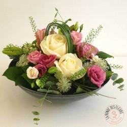 Coeur de roses opale La Ronde des Fleurs