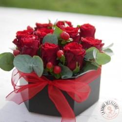 Coussin carré de fleurs Harmonie La Ronde des Fleurs