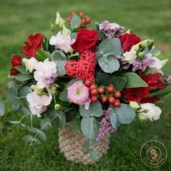 bouquet rond douceur par la ronde des fleurs