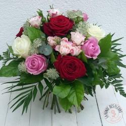 bouquet de roses romance - la ronde des fleurs