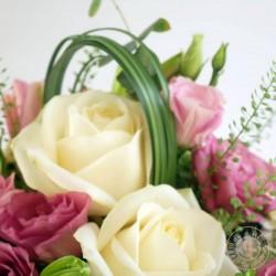 composition florale lili rose par la ronde des fleurs
